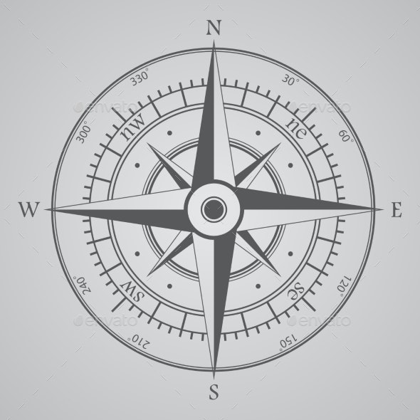 Compass Background - Decorative Symbols Decorative