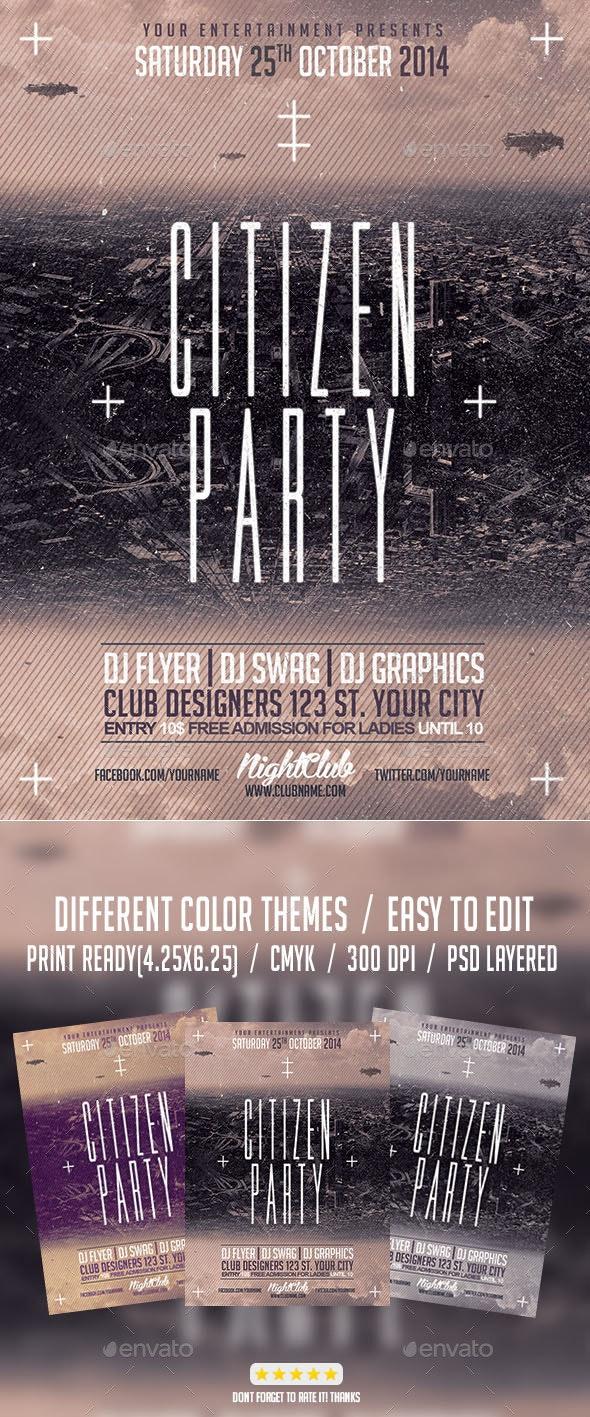 Citizen Alternative Party PSD Flyer Template - Events Flyers