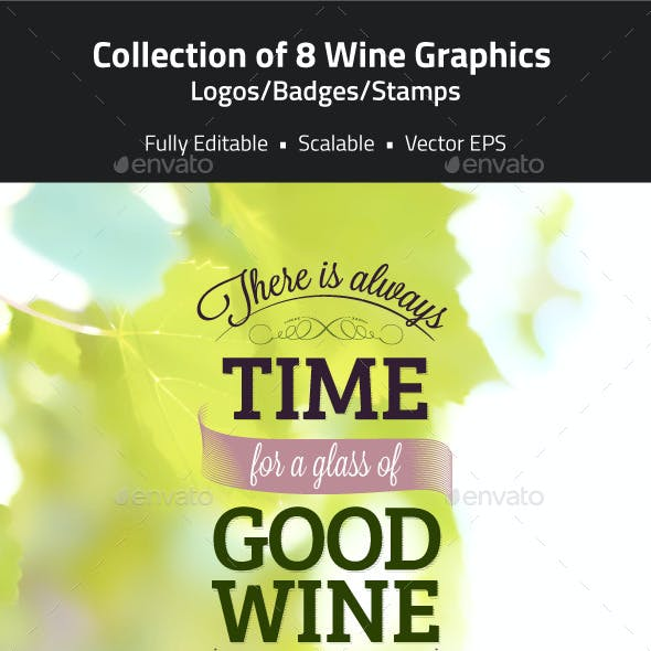 Wine Logos, Badges, Stamps