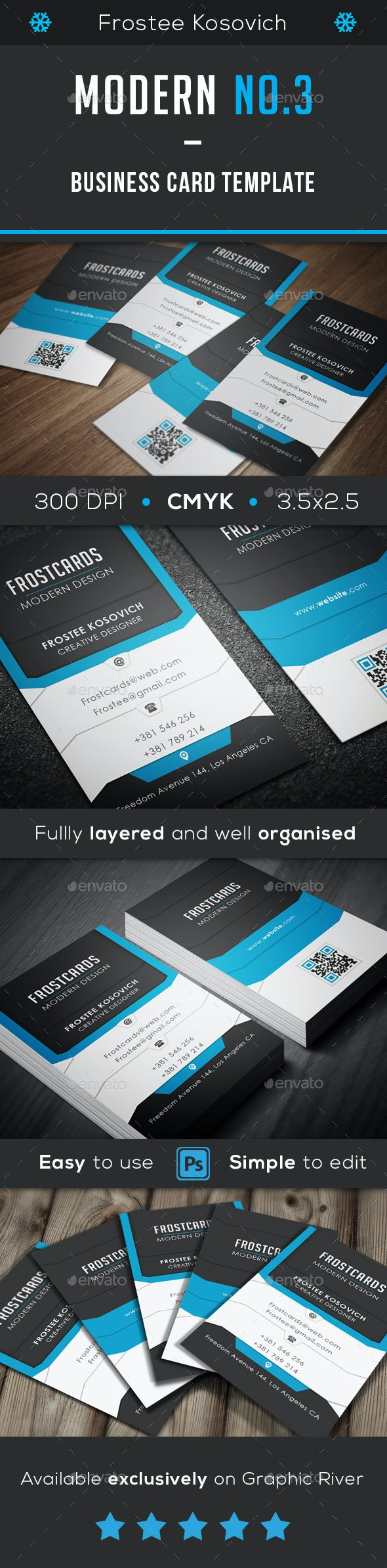 Modern Business Card Template No. 3 - Creative Business Cards