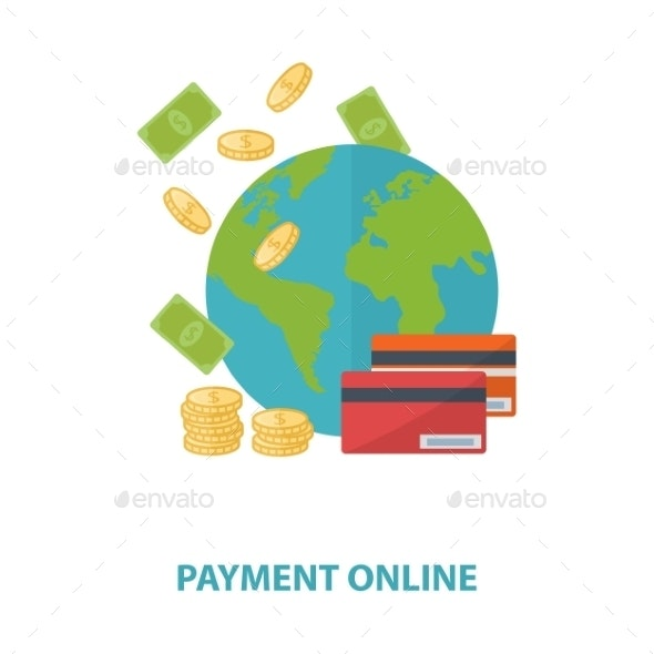 Vector payment online concept - Retail Commercial / Shopping