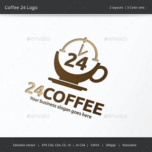 Coffee 24 Hour Logo