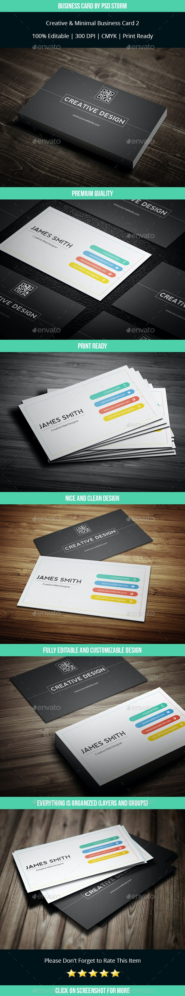 Minim - Clean and Minimal Business Card V3 - Corporate Business Cards