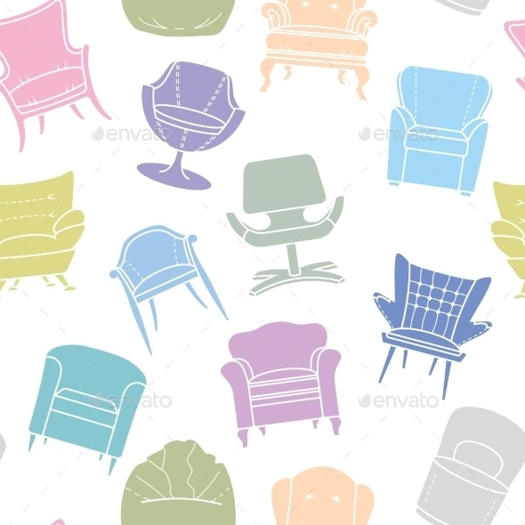 Pattern of Armchairs - Objects Vectors
