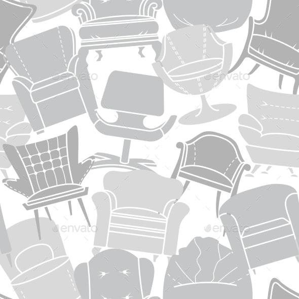 Armchair Pattern - Objects Vectors