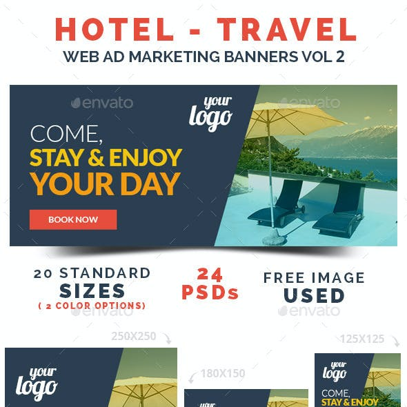 Hotel / Travel Web Ad Marketing Banners Vol 2