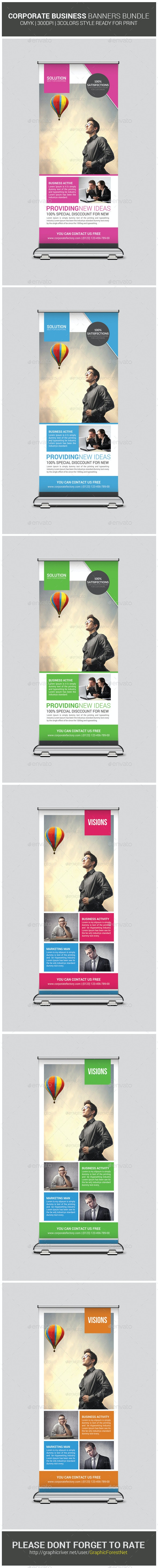 Business Rollup Banners Bundle - Signage Print Templates