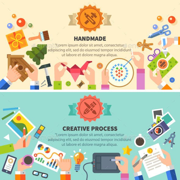 Vector Flat Handmade and Creative Process