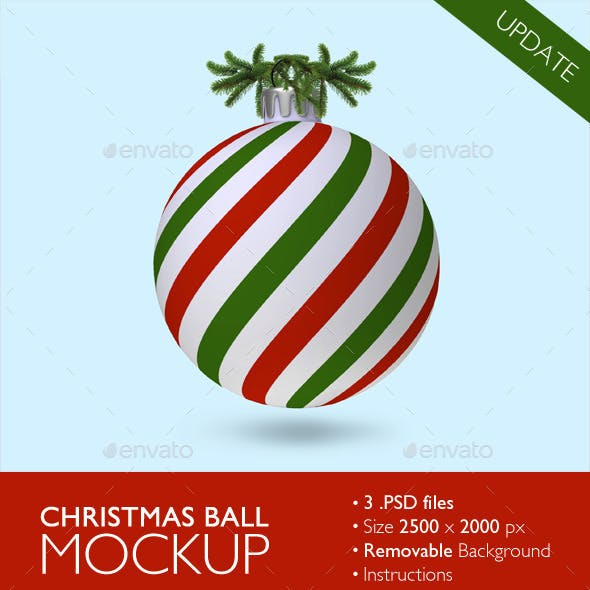 Christmas Ball Mockup