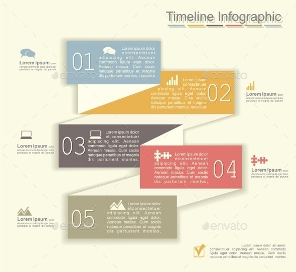Retro Infographics with Elements and Icons - Concepts Business