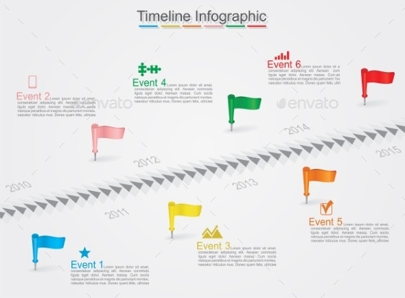 Timeline Infographics with Icons - Concepts Business