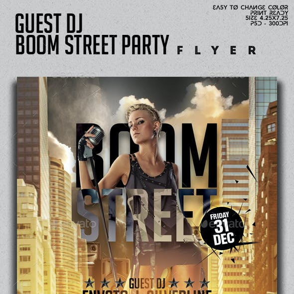 Guest Dj Boom Street Party Flyer Template