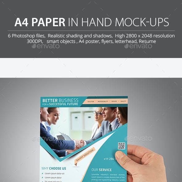 A4 Mockup / in Hand Mockup