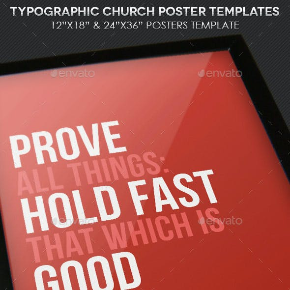 Church Quote Poster Template