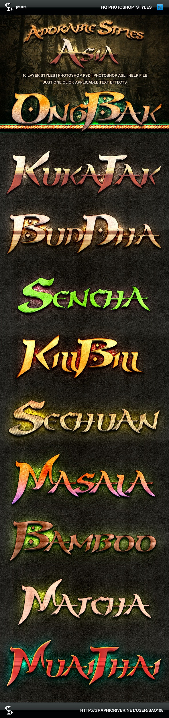 Adorable Asia Style Text Effects - Text Effects Styles