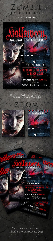 Zombie Halloween Night - Events Flyers