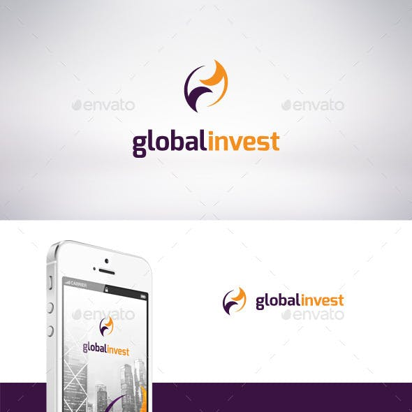 Global Invest Logo Template