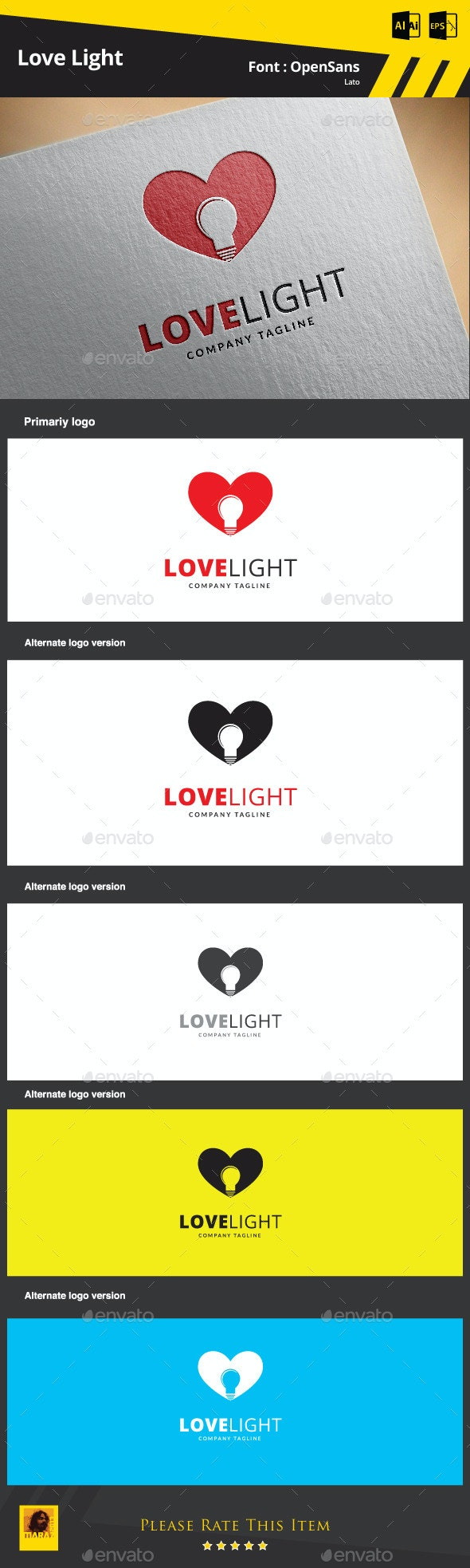 Love Light Logo Template - Symbols Logo Templates