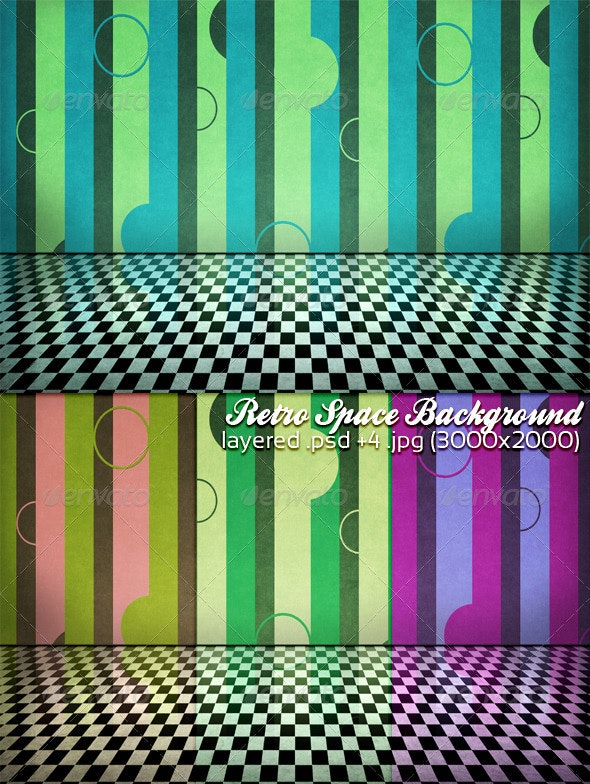 Retro Space Background - 3D Backgrounds