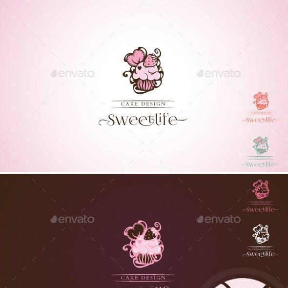 Sweetlife - Cup Cake Design Illustration Logo Template