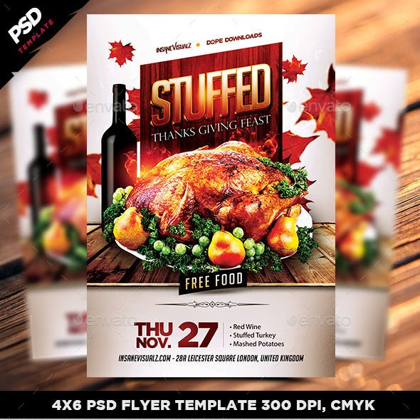 Stuffed Thanksgiving Feast Flyer