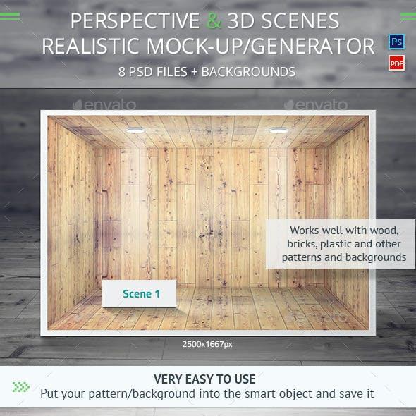 Perspective and 3d Scenes Mock-Up / Generator