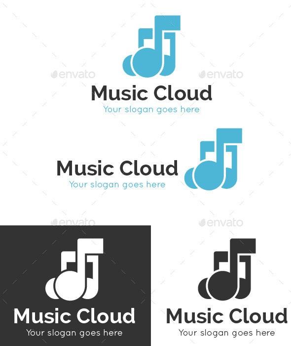 Music Cloud Logo Template - Symbols Logo Templates