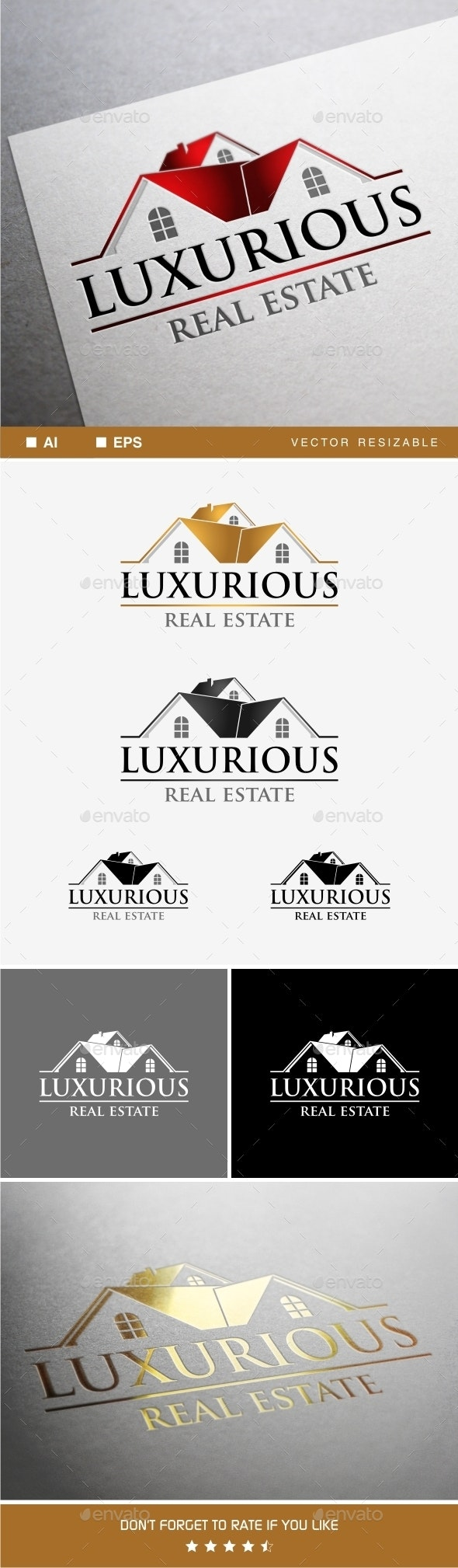 Luxurious Estate Logo - Buildings Logo Templates