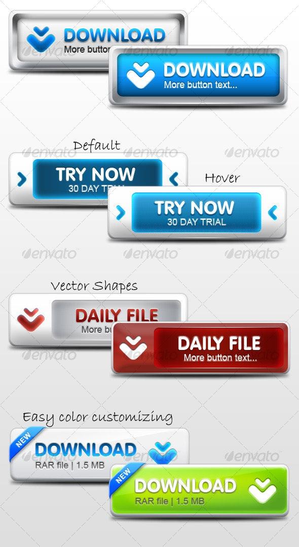 Modern Web Buttons - Buttons Web Elements