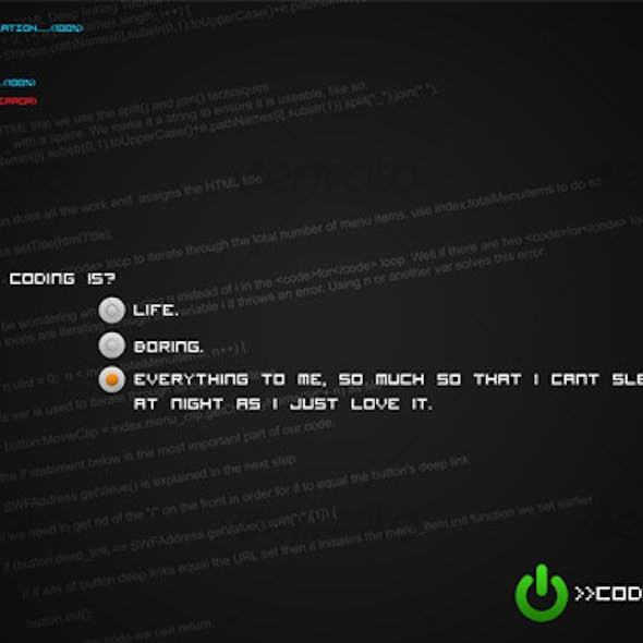 Coding Is Life? Revived Wallpaper