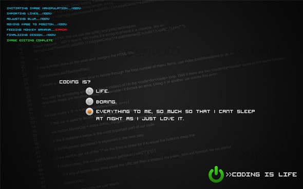 Coding Is Life? Revived Wallpaper - Tech / Futuristic Backgrounds