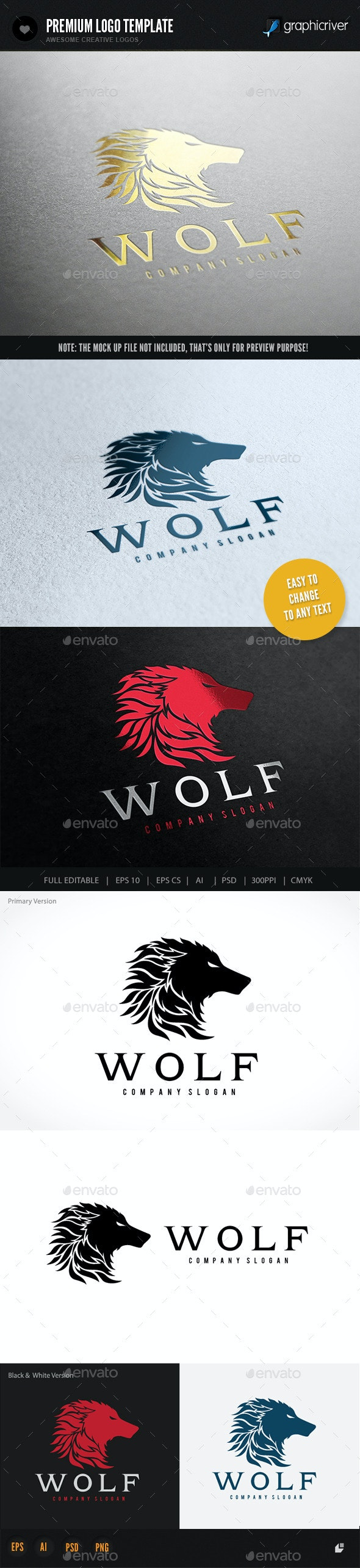 Wolf - Crests Logo Templates