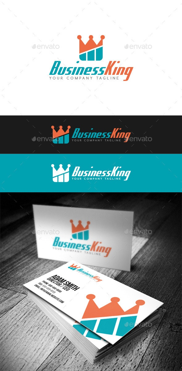 Business King Logo - Abstract Logo Templates