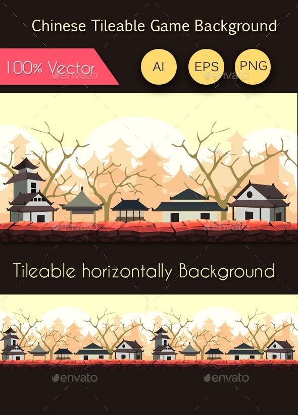 Chinese Tileable Game Background - Backgrounds Game Assets
