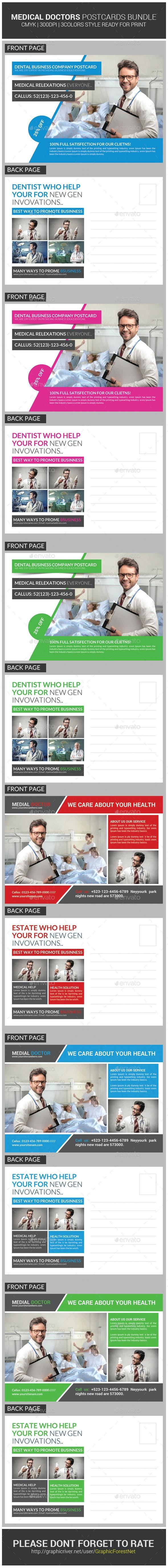 Medical Doctors Postcards Bundle - Cards & Invites Print Templates