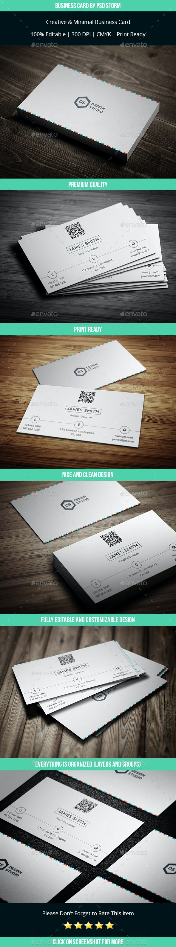Minim - Clean and Minimal Business Card V2 - Corporate Business Cards