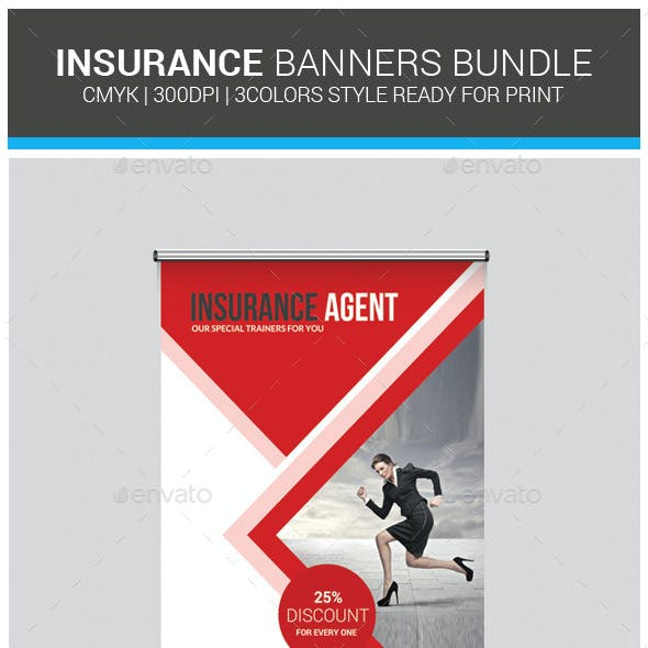 Insurance Business Banners Bundle Template