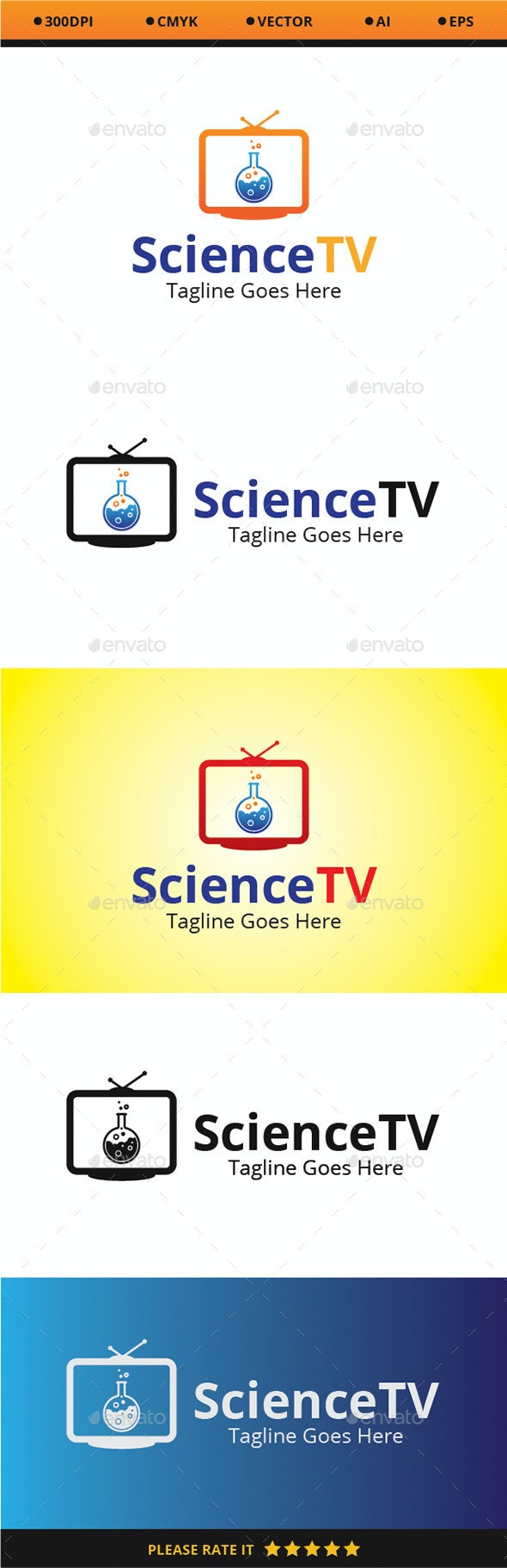 Science TV - Logo Templates