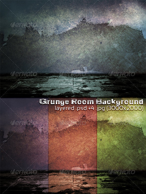 Grunge Room Background - 3D Backgrounds