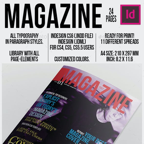 Magazine Template 24 Pages