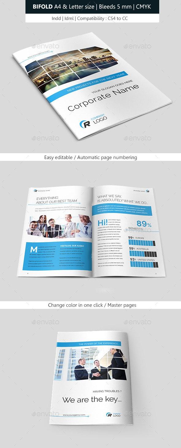 Business Brochure Template Bifold - Corporate Brochures