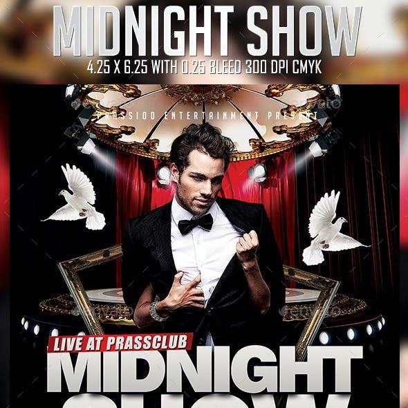 Midnight Show Flyer Template