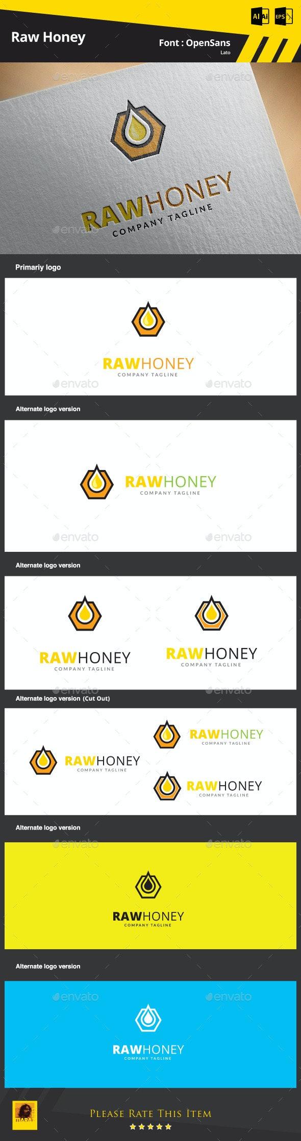 Raw Honey Logo Template - Objects Logo Templates