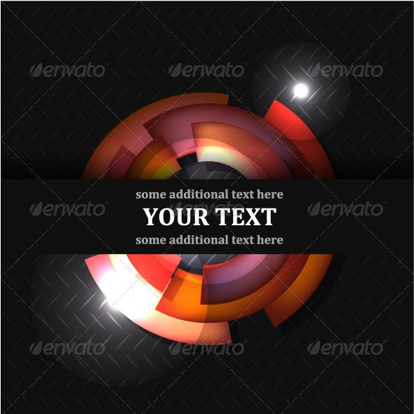 Black Vector Background With Light Effects - Backgrounds Business