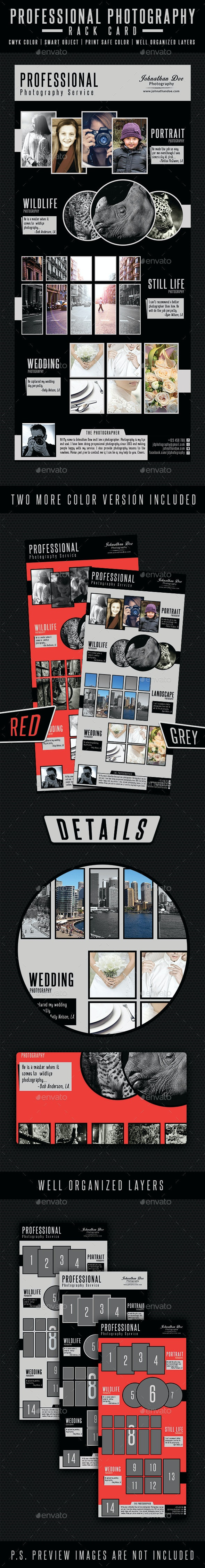Professional Photography Rack Card - Commerce Flyers