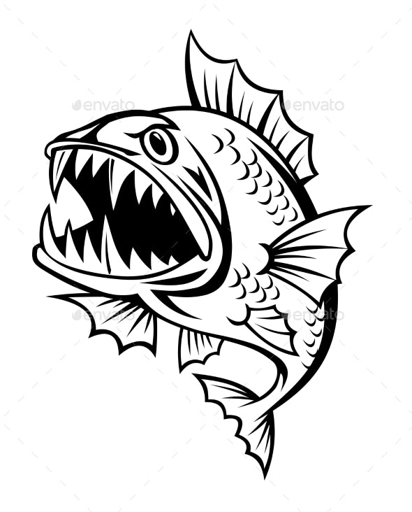 Angry Fish - Animals Characters