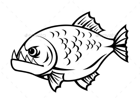 Angry Piranha - Animals Characters