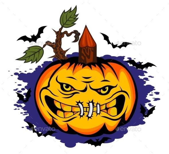 Danger Halloween Pumpkin - Halloween Seasons/Holidays