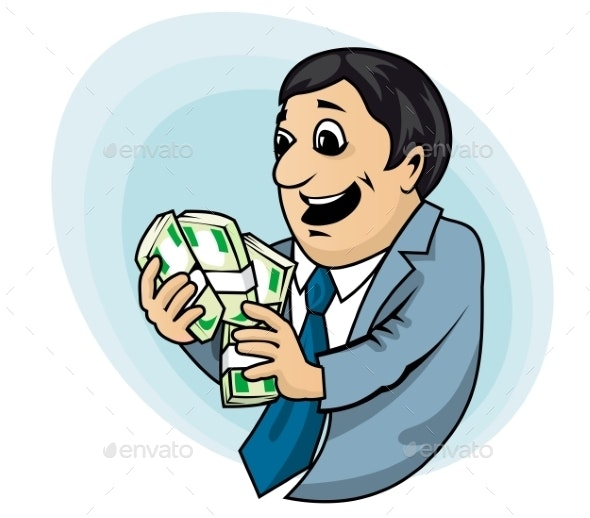 Businessman with Money - People Characters