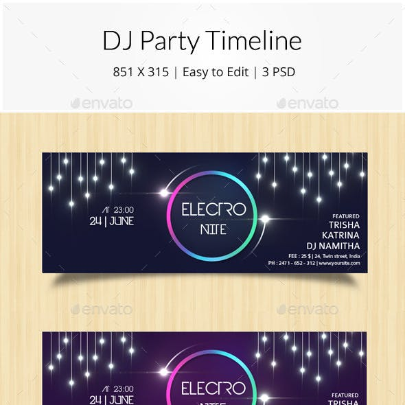 DJ Party Timeline